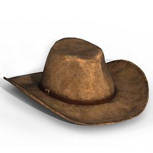 3D realistic cowboy hat