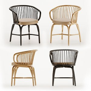 design huma chairs seat 3D model