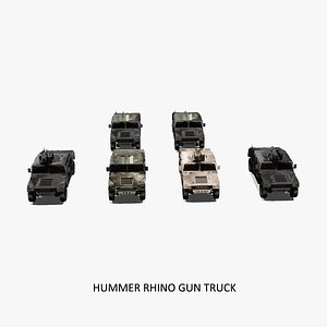 Rhino Hummer Military Gun Truck 3D