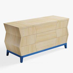 3D sideboard buffet cabinet model
