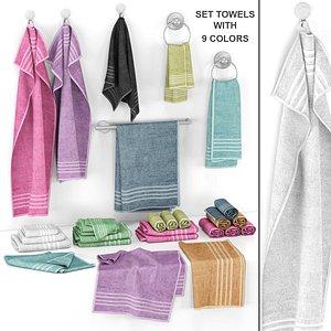 towel cloth handtowel 3D model