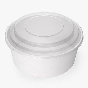 3D paper food bowl clear model
