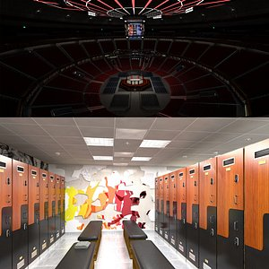 Ufc Arena  and Locker Room 3D