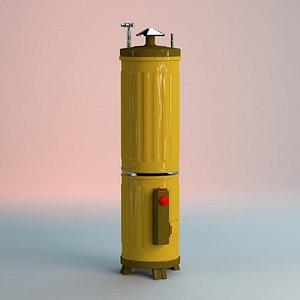 Water Hot Geyser Long 3D 3D model