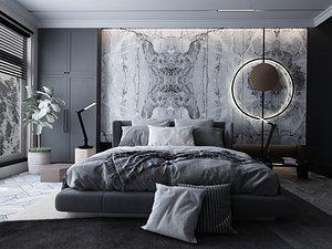 3D Modern Style Bedroom - 512 model
