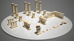 baluster architectural 3D model