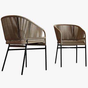 3D cricket chair furnish model