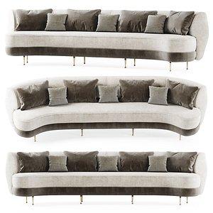 gabriel curve sofa 3D model