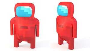 3D Pixel Astronaut