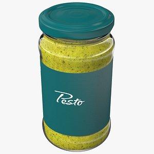 Pesto Sauce Pot 6oz 3D