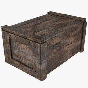 realistic wooden box pbr 3D