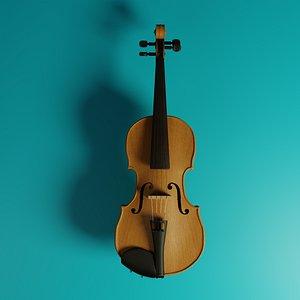 3D model violin music instrument