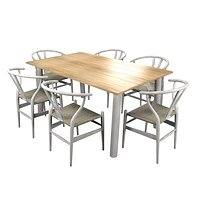 Modern table with CH24 chairs