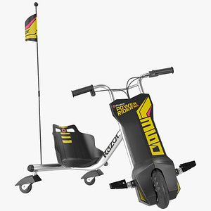 Razor Powerrider 360 Electric Tricycle Rigged 3D