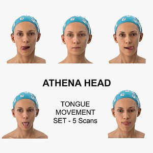 Athena Clean Scans Tongue Movement Set - 5 poses Collection model