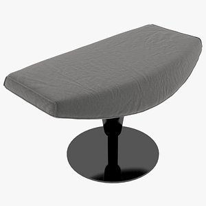 3D Cassina 277-42 Auckland Ottoman Charcoal Fabric Black Body
