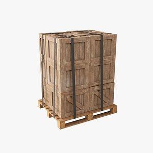 pallet industrial crate 3D model