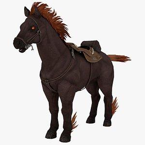 3D Fire Horse Rigged 3D Model 3D model