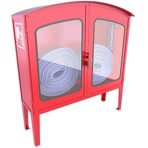 3D 3D Red Emergency Fire Hose Box Model 23