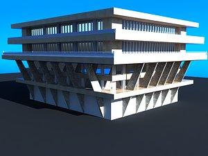 3D 3D Industrial Building