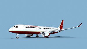 3D Airbus A220-300 Air Charter America3ds