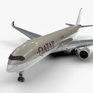 a350-900 qatar airways l1092 3D model