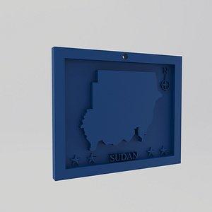 Sudan Map Print 3D model