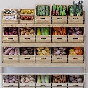 grocery vegetables 3D model