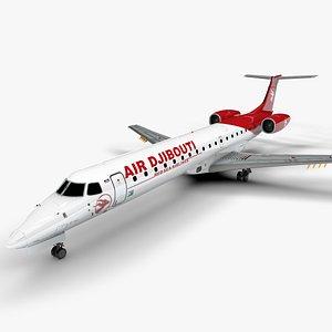 Air Djibouti EMBRAER ERJ 145 L1365 3D model