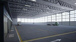 3D model logistics warehouse