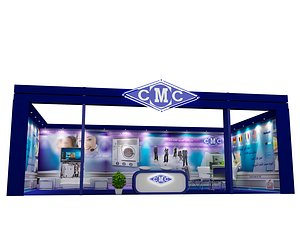 3D stand exhibition booth