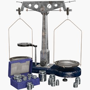 Mechanical Laboratory Balance Pro 3D model