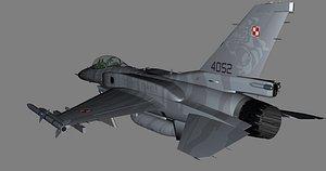 F-16C Polish Airforce PolAF 4052 3D model