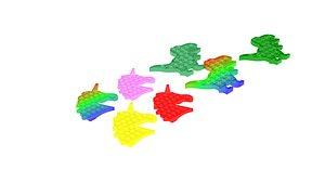 3D Animal Pop It Fidget Toys Set