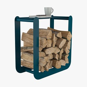 3D log firewood wood