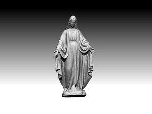 3D virgin mary model