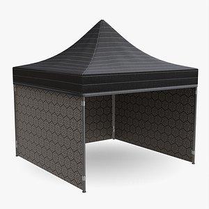 3D tent mockup display model