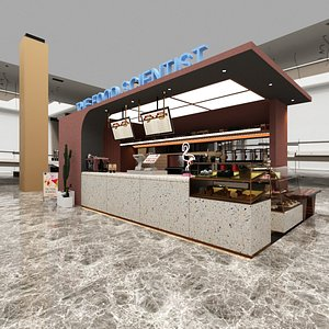 coffee pastry shop 3D model