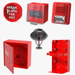 Fire Alarm Tools Collection 3 3D model