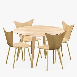 Dining Table 4 Seater Modern 3D model