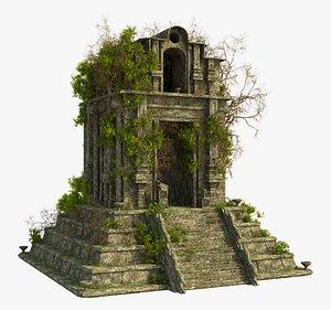 Fantasy Lost Temple 3D model