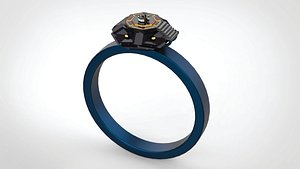 DIAMOND Sci-Fi RING 3D model