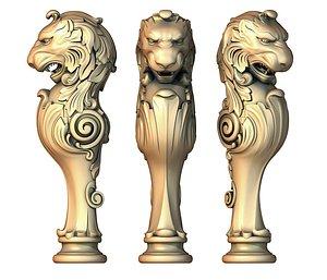 Baluster 70 lion post stairs 3D model 3D model