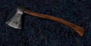 3D model Wooden Axe