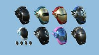 08 SciFi Helmet Collection A - Character Design Fashion