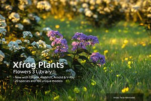 flowers 3 plant xfrogplants 3d model