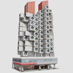 3D Tokyo Capsule Hotel model