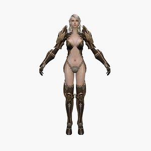 3D warrior elf