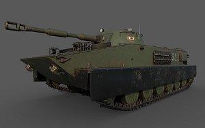 Soviet Tank PT 76 3D model