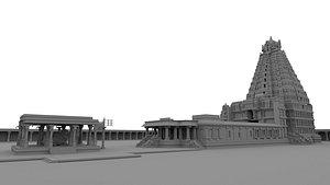 3D Brihadeeswara Temple Thanjavur